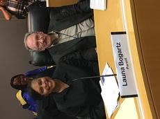 Mayall PTA President at LAUSD Board Meeting!